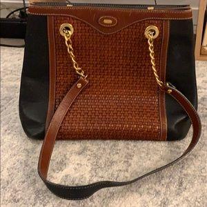 Vintage BALLY Woven Bucket Bag